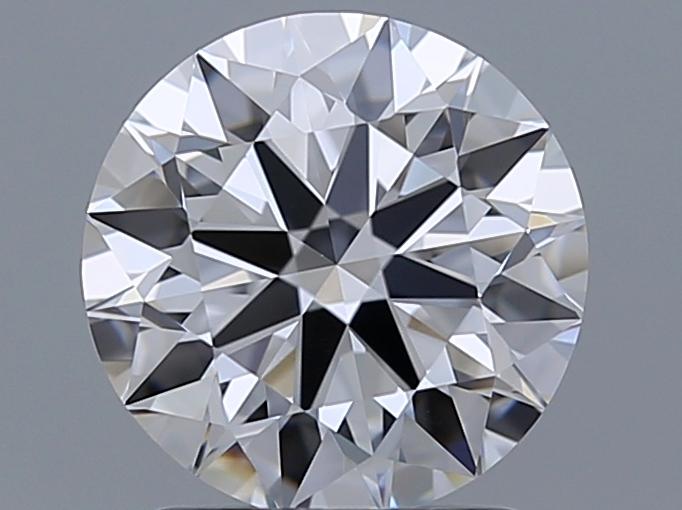 1.71-Carat Natural Ideally Cut Round Diamond