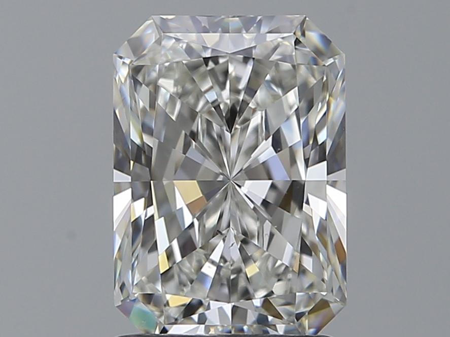 1.50-Carat Natural Ideally Cut Radiant Diamond